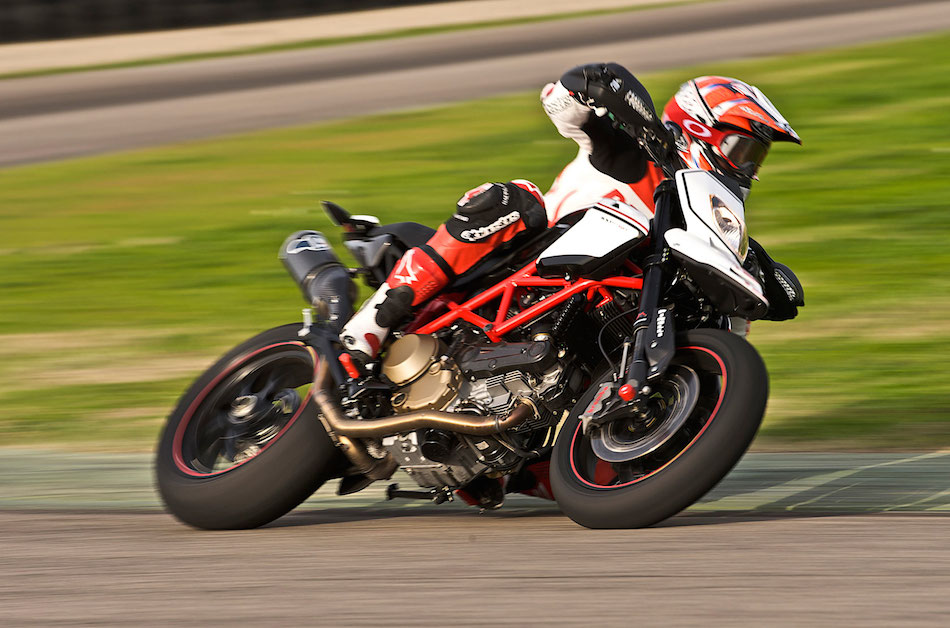 Ducati Hypermotard Motion Image on Track